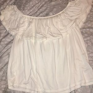 AE soft & sexy off the shoulder white top